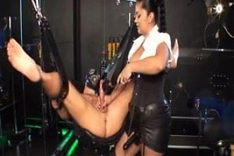 Tatiana Cruella milks slave