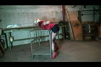 Captured in a warehouse and caned