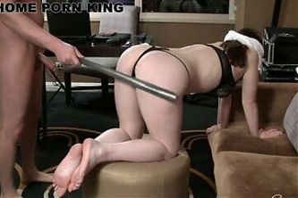 Loud Black Haired Girl Punished, Throated and Fucked