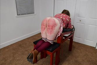 Caned On the Bench - Spanking