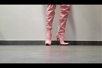 pink crotch boots 18cm