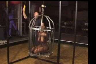 ebony girl tied and caged